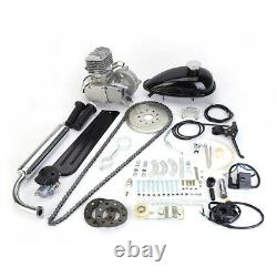 80cc 2-Stroke Cycle Bike Engine Motor Petrol Gas Kit fr Motorized Bicycle Black