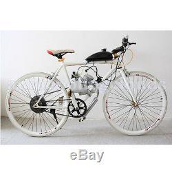 80cc 2-Stroke Cycle Bike Silver Engine Motor Petrol Gas Kit for Motorized Body