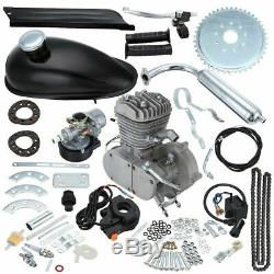 80cc 2-Stroke Cycle Engine Motor Kit Petrol Gas for Motorized Bicycle Chrome