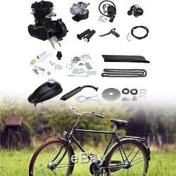 80cc 2 Stroke Gas Engine Motor Kit Set For Motorized Bicycle Bike Cycle Black