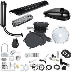 80cc 2 Stroke Motorized Bike Bicycle Cycle Petrol Gas Engine Motor Kit Black