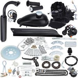 80cc 2-Stroke Petrol Gas Motor Engine Kit Gas for Motorized Bicycle Bike Black
