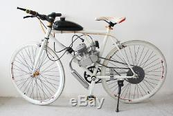 80cc 2 Stroke Silver Bike Bicycle Engine Kit Gas Motorized Bike Motor