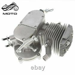 80cc 2Stroke Cycle Bike Engine Motor Petrol Gas Kit for Motorized Bicycle Silver