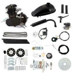 80cc Bicycle Motor Kit Bike Motorized 2 Stroke Petrol Gas Engine Set Black US