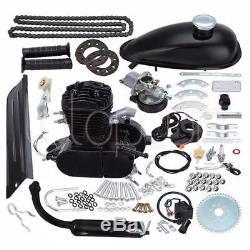 80cc Bike 2 Stroke Gas Engine Motor Kit DIY Motorized Bicycle Black UK Stock