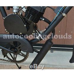80cc Bike 2 Stroke Gas Engine Motor Kit DIY Motorized Bicycle Cycle Black Body