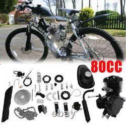 80cc Bike Bicycle Motorized 2 Stroke Petrol Gas DIY Motor Engine Kit Set Black