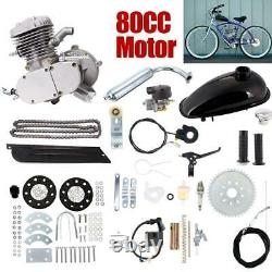80cc Bike Bicycle Motorized 2 Stroke Petrol Gas Motor Engine Kit Cycling Parts