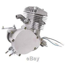 80cc Bike Bicycle Motorized 2 Stroke Petrol Gas Motor Engine Kit Full Set Silver