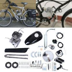 80cc Bike Bicycle Motorized 2 Stroke Petrol Gas Motor Engine Kit Scooter Silver