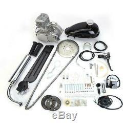 80cc Bike Bicycle Motorized 2 Stroke Petrol Gas Motor Engine Kit Set Chrome USD