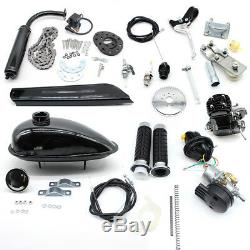80cc Bike Bicycle Motorized 2 Stroke Petrol Gas Motor Engine Kit Set Silver
