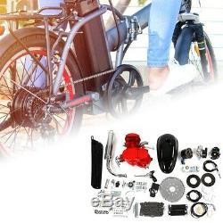 80cc Bike Bicycle Motorized 2-Stroke Petrol Gas Motor Engine Kit Set Speedometer