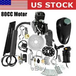 80cc Bike Bicycle Motorized 2 Stroke Petrol Gas Motor Engine Kit Set US