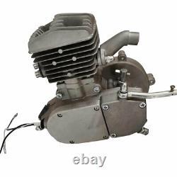 80cc Bike Engine Motor Kit Gas Motorized Bicycle 2-Stroke Silver