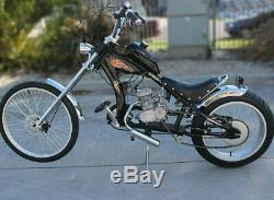 80cc Motorized Bicycle Bike 2 Stroke Gas Motor Engine Kit Complete Cycle Set