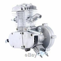 80cc Upgrade 2 Stroke Bicycle Engine Kit Gas Motorized Bike Motor Silver US SHIP