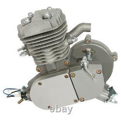 80cc engine 2 Stroke Motor Kit Petrol Gas Motorized Bicycle Bike Silver Upgraded