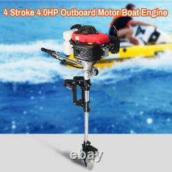 ANBULL 4Stroke 4HPOutboard Motor Fishing Boat Gas Engine Air-Cooled USA New