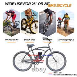 ANBULL 80CC 2-Stroke Bike Bicycle Engine Kit Motorized Petrol Gas Motor Black