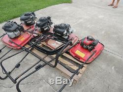Allen Hover Flymo Cushionaire Mower Pallet of 4 mowers 4 stroke Honda Engines
