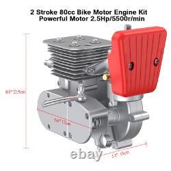 Anbull 100CC 26 28 Bicycle Engine Kit Motorized 2 Stroke Petrol Gas Motor Kit
