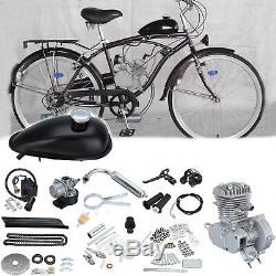 Bicycle 2 Stroke 80cc DIY Petrol Gas Motorized Engine Bike Motor Kit Sliver