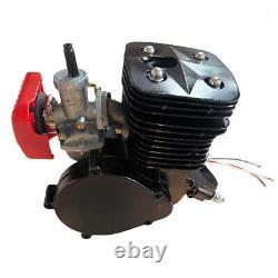 Black 110cc Bicycle Motor Kit 2 Stroke Bike Motorized Petrol Gas Engine Set