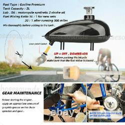 Black 2-Stroke100cc Bicycle Motor Kit Bike Motorized Petrol Gas Engine Set 2021