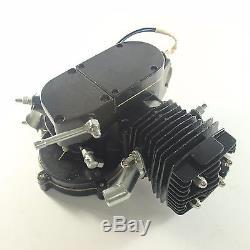 Black 50cc 2 Stroke Cycle Motor Kit Motorized Bike Petrol Gas Bicycle Engine