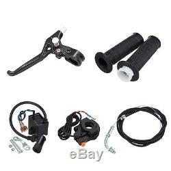 Black 50cc Gas 2 Stroke Bike Motor Kit Motorized Bicycle Engine kit