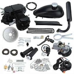 Black 80CC 2 Stroke Engine Petrol Gas Bicycle Cycle Motor Kit Motorized Bike