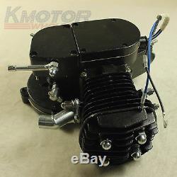 Brand New Black DIY Motorized Bicycle 80cc Bike 2 Stroke Gas Engine Motor Kit