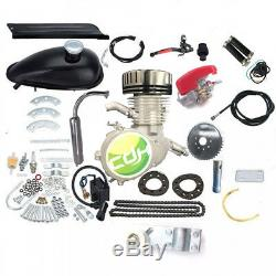 CDHPOWER 2 stroke silver gas bicycle engine kit-Super PK80- 66cc/80cc black head