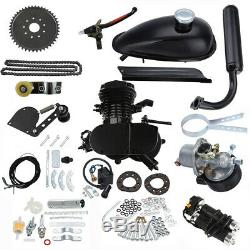 Chain Tension Black 80cc 2 Stroke Gas Engine Motor Kit DIY Motorized Bike