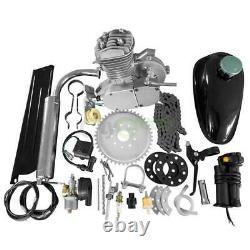 Chrome 50cc 2 Stroke Cycle Motor fit Motorized Bike Petrol Gas Bicycle Engine US