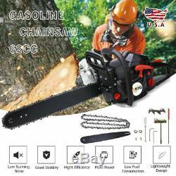 Coocheer Gas Chainsaw 20´´ Bar 58CC 2Stroke Petrol Engine Cordless Powerful Tool