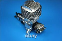 DLE 55CC Single Cylinder Two Stroke Side Exhaust Gas Engine with Muffler&Ignition
