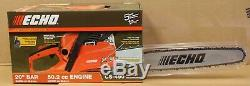 ECHO CS-490 20 in. 50.2cc Gas Chainsaw 2-Stroke Engine New Factory Sealed