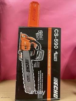 ECHO CS-590 Gas Chainsaw 20 in. 59.8cc 2-Stroke Engine New(9338)