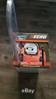 Echo CS-490 Professional Grade 20 Bar 50.2cc Engine 2-Stroke Chainsaw, NEW