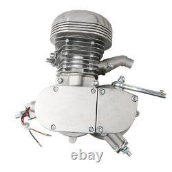 For 100cc 2 Stroke Motorised Motorized Bicycle Bike Gas Engine Motor Silver