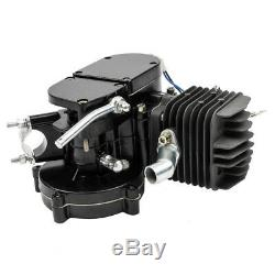 Full 80cc 2-Stroke Motor Engine Kit Gas for Motorized Bicycle Bike Black