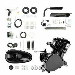 Full 80cc 2-Stroke Petrol Gas Motor Engine Kit for Motorized Bicycle Bike Black