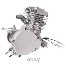 Full 80cc Bike Bicycle Motor Kit Motorized 2 Stroke Petrol Gas Engine Set Silver