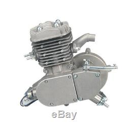 Full Kit 80cc 2Stroke Cycle Engine Motor Petrol Gas for Motorized Bicycle Silver