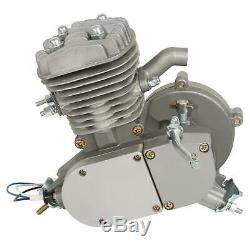 Full Set 24/26 80cc 2-Stroke Bike Gas Motor Engine Kit Cycle Motorized Bicycle