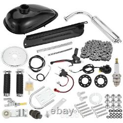 Full Set Bike Motor 2-Stroke 100cc Petrol Gas Motorized Bicycle Engine Kit HOT