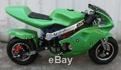 Gas Super Pocket Bike Motorcycle Gas Powered 49CC 2-Stroke Engine Fit Teens/Kids